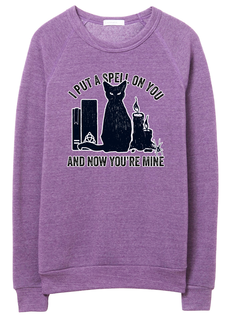 I Put A Spell On You Unisex Crewneck Sweatshirt (Black + White Duo)