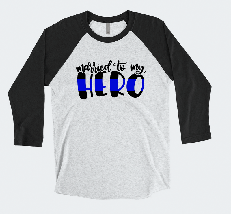 Married To My Hero (TBL) Unisex Baseball Raglan