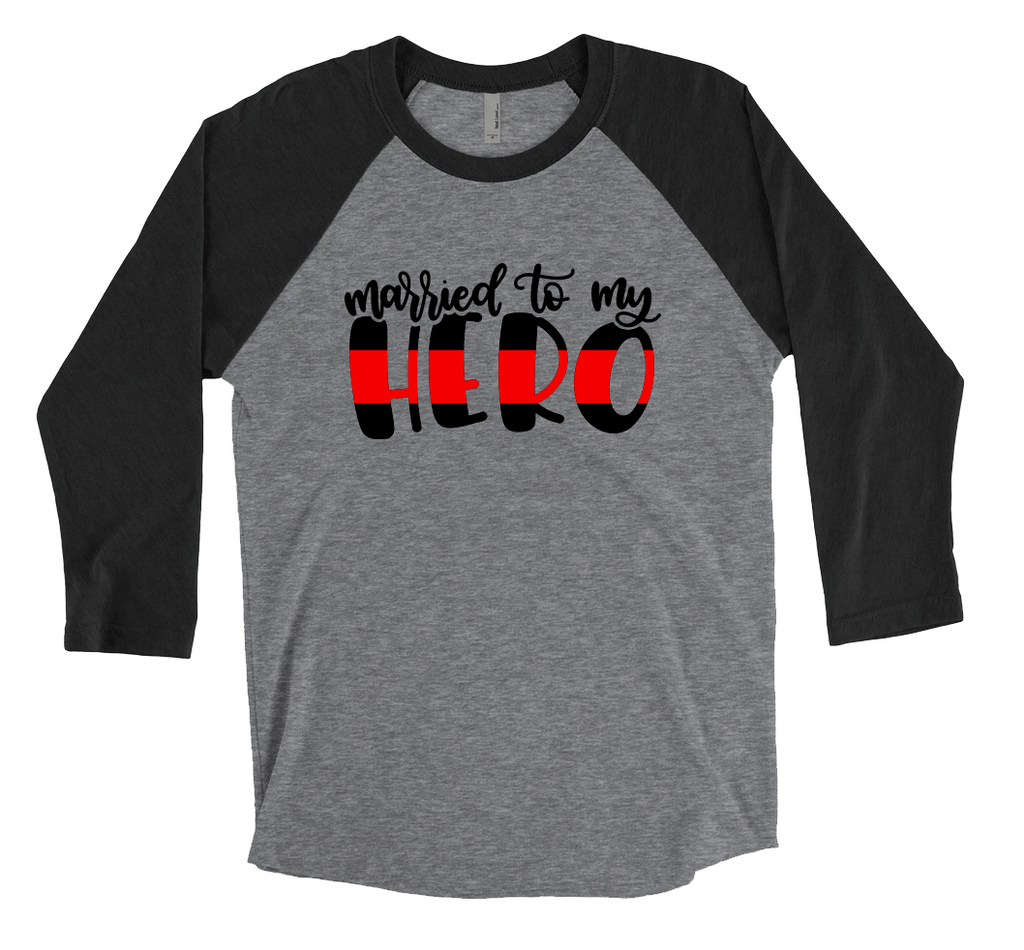 Married To My Hero© (TRL) Unisex Baseball Raglan