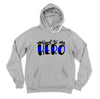 Married To My Hero © Unisex Pullover Hoodie (Thin Blue Line)
