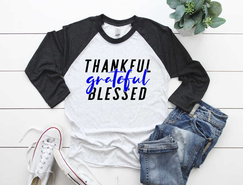 Thankful Grateful Blessed (TBL) Unisex Baseball Raglan