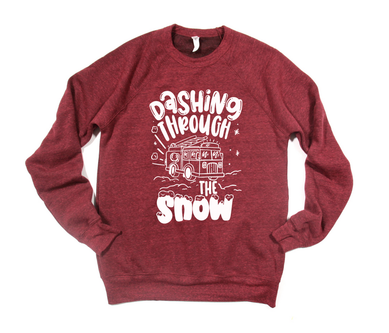 Dashing Through The Snow © (FIRE) Unisex Crewneck Sweatshirt