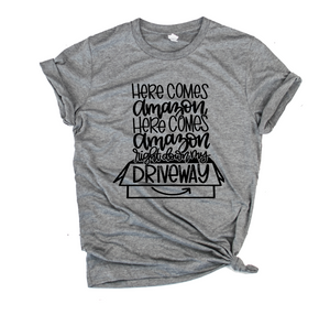 Here Comes Amazon Unisex Tee (Black)