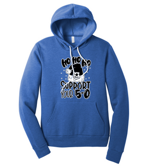 HO HO HO Support Your 5-0 © Unisex Pullover Hoodie