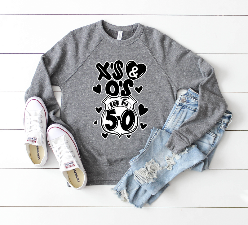 X's and O's For My 5-0 Unisex Crewneck Sweatshirt