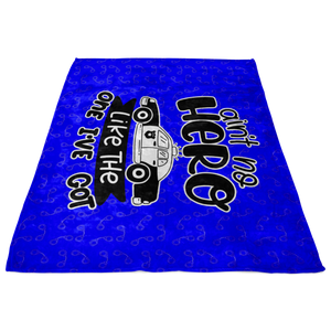 Aint No Hero LEO Fleece Blanket - Blue