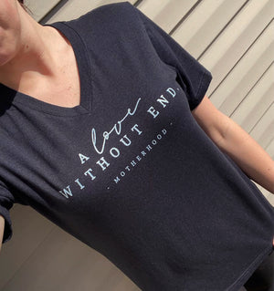 A Love Without End Unisex V-Neck Top (Front Shimmer)