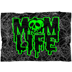 Mom Life Rotten Slime © Fleece Blanket (Green)