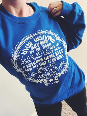 These Are A Few Of My Favorite Things © Unisex Crewneck Sweatshirt (Royal Blue)