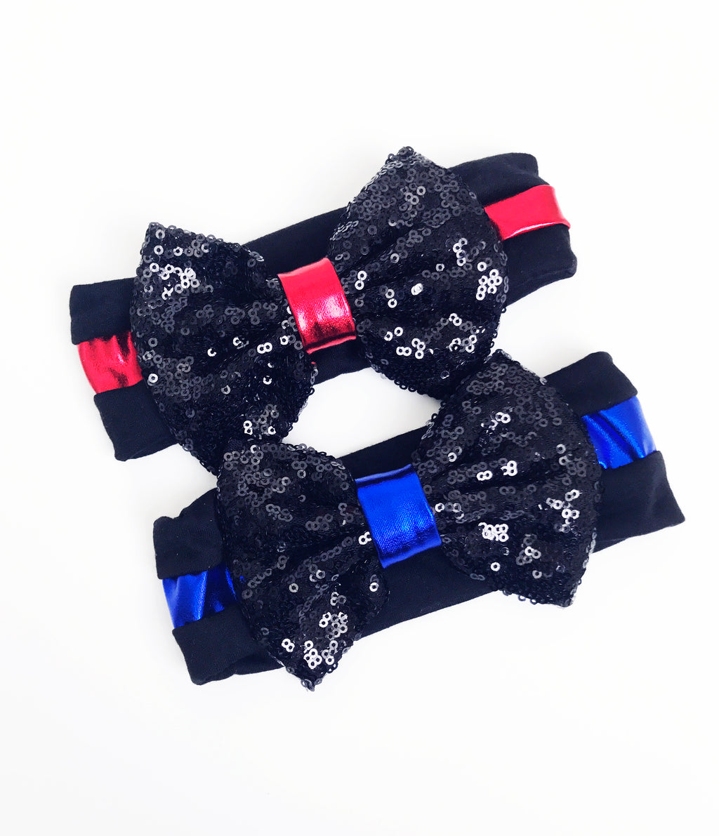 First Responder Youth Sequin Bow Headband