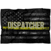 Dispatcher Grunge Flag Fleece Blanket