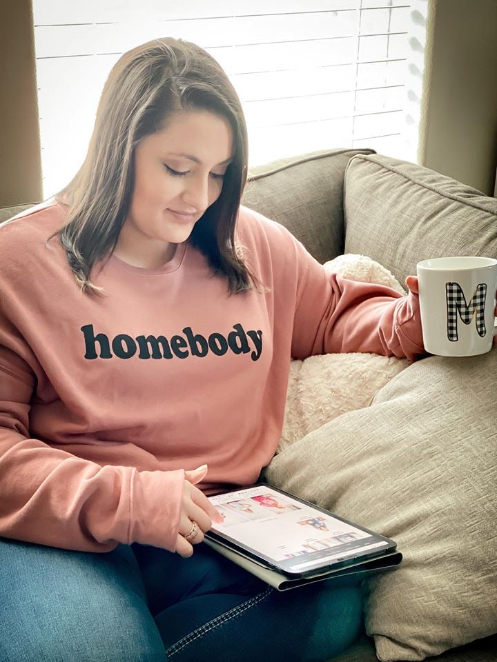Homebody Unisex Crewneck Sweatshirt (Black)