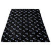 Stars + Thin Blue Line Hearts Fleece Blanket
