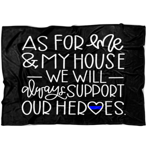 As For Me and My House TBL Fleece Blanket