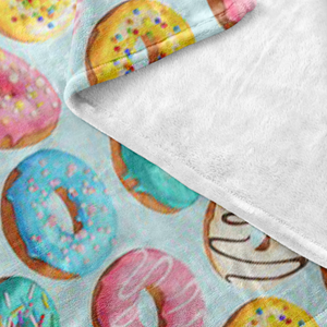 Donut Enthusiast Fleece Blanket