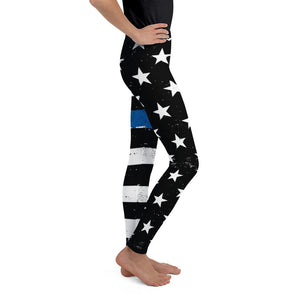 TBL Distressed Stars and Stripes Youth Leggings