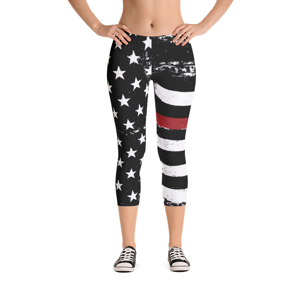 72df7825d5ac1 Thin Red Line Distressed Stars and Stripes Capris