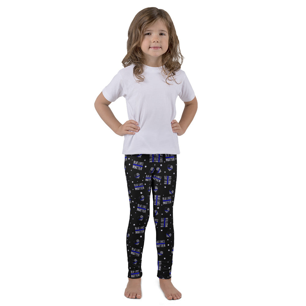 Blue Lives Matter Kid's Printed Leggings