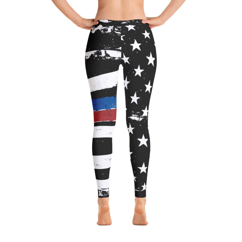 TBL and TRL Duo Distressed Stars and Stripes Printed Leggings