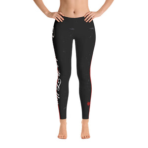 Thin Red Line Remember the Fallen Adult Printed Leggings