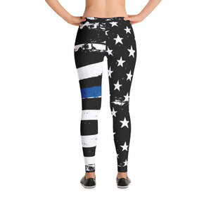 TBL Distressed Stars and Stripes Adult Leggings