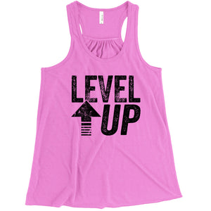 Level Up Ladies Flowy Racerback