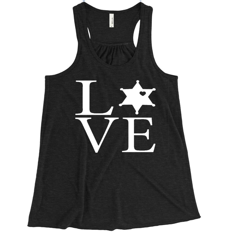 LEO 6PT Love Square Ladies Flowy Racerback Tank