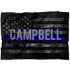 *CUSTOM NAME* Thin Blue Line Flag Fleece Blanket