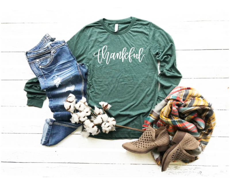 Thankful L/S Triblend Unisex Top