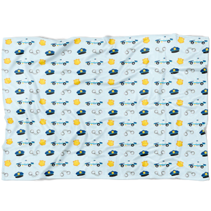 Little LEO Police Clipart Fleece Baby Blanket
