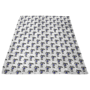Lowercase Love Thin Blue Line Fleece Blanket