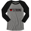 Heart Strong© (Thin Red Line) Unisex Baseball Raglan