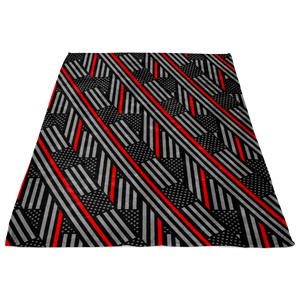 Simple Flags Thin Red Line Fleece Blanket