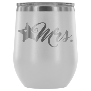 LEO Mrs 5pt Badge 12oz. Stemless Wine Tumbler