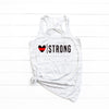 Heart Strong (Thin Red Line) Flowy Racerback Top
