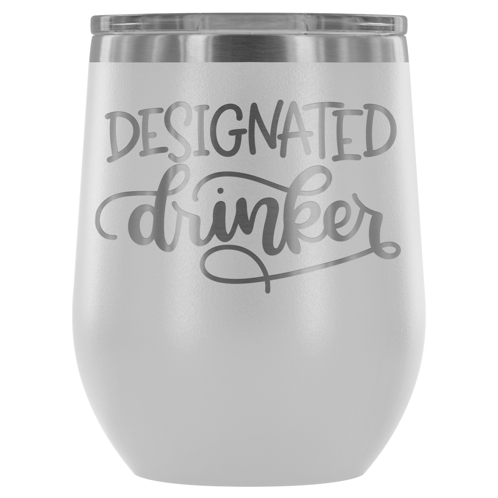 Designated Drinker 12oz. Stemless Wine Tumbler