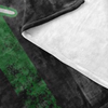 Thin Green Line WIFE Flag Fleece Blanket