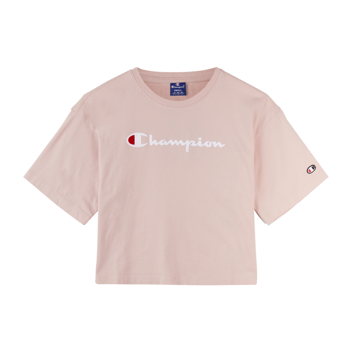 Champion cropped logo t shirt pige