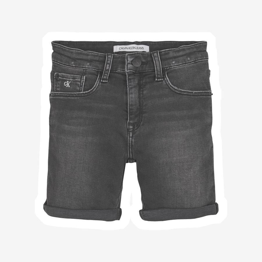 Calvin Klein Athletic Slim denim shorts sort