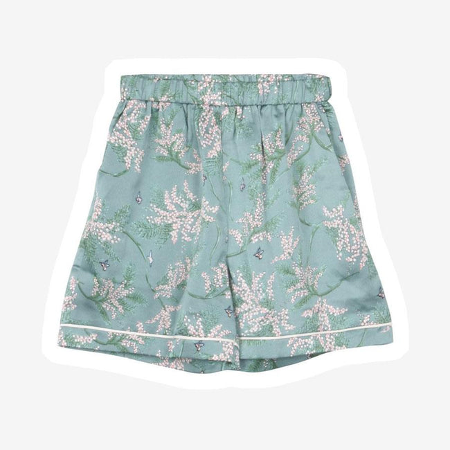 Grunt Savannah shorts m. blomsterprint grøn