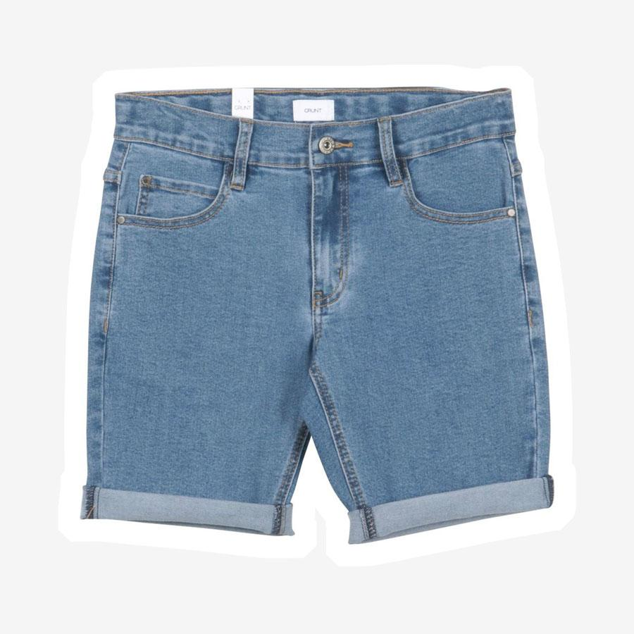 Grunt Space denim shorts blå