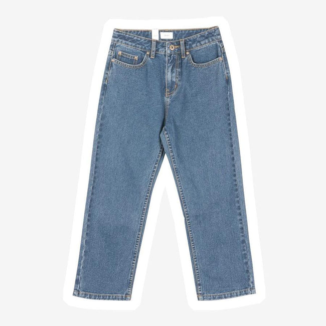 Grunt Mom Striaght Leg Cropped jeans