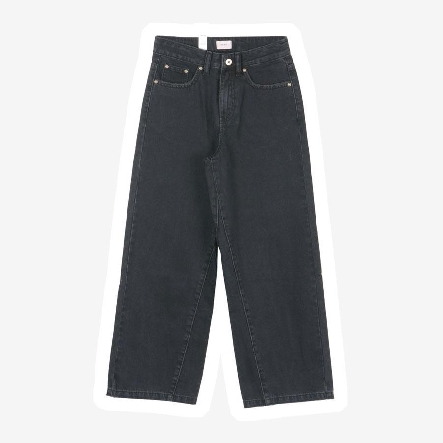 Grunt Calm Wide Leg jeans sort grå