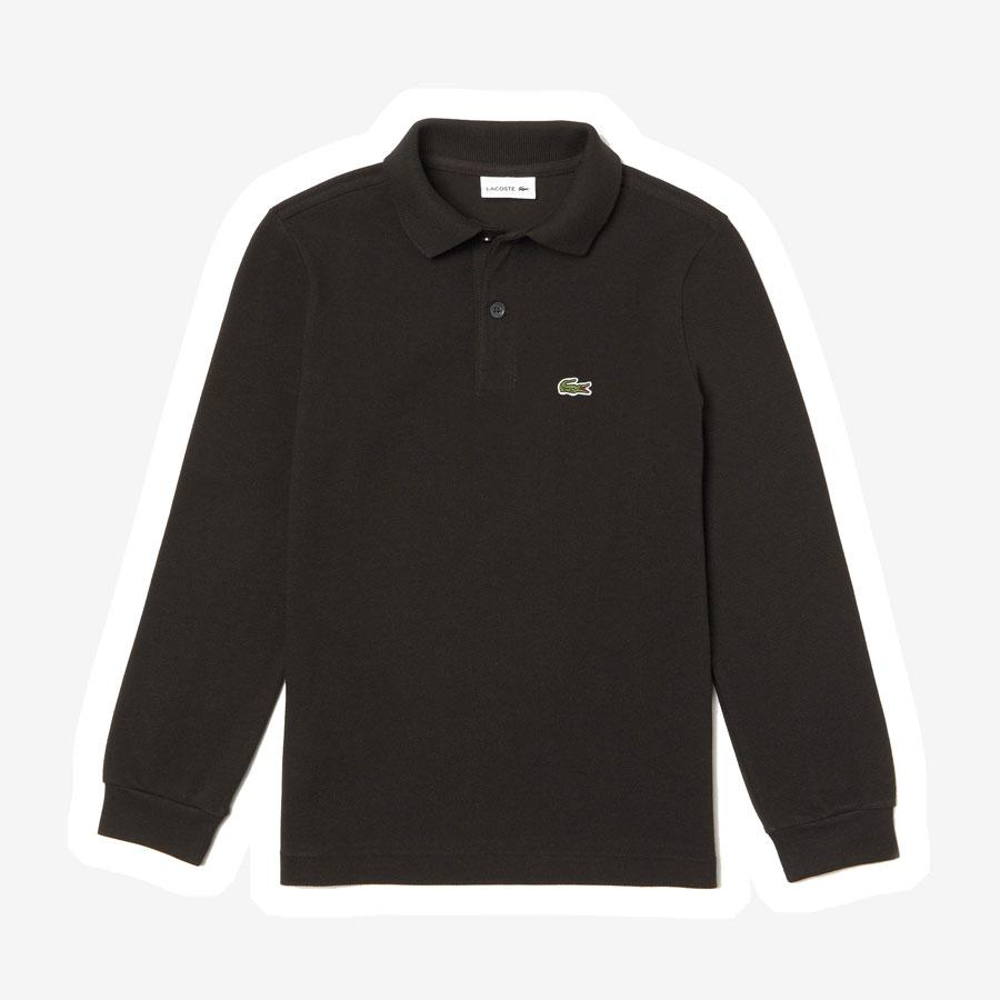 Lacoste polo langærmet t-shirt sort