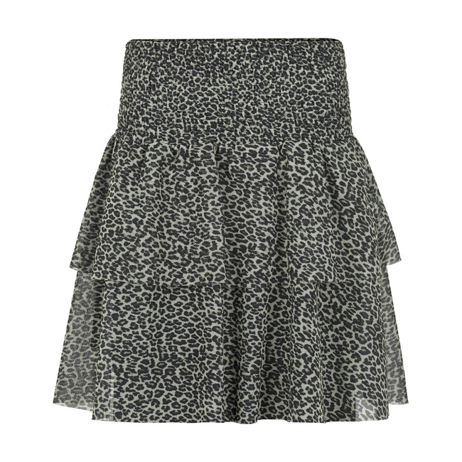 The New Klara leopard mesh nederdel