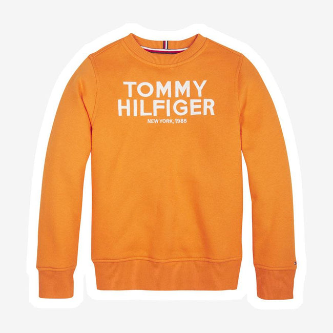 Tommy Hilfiger Embroidered logo sweatshirt orange