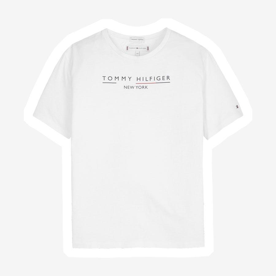 Tommy Hilfiger New York Essential logo t-shirt hvid