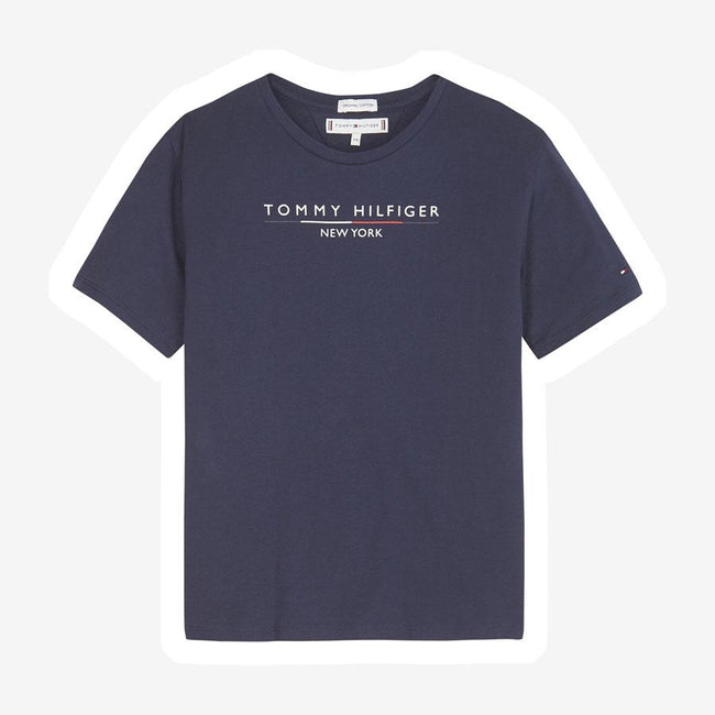 Tommy Hilfiger New York Essential logo t-shirt mørkeblå