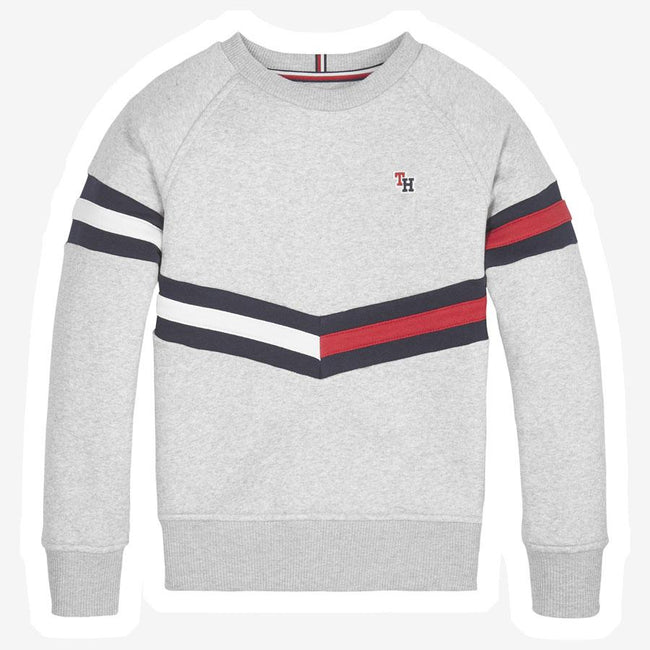 Tommy Hilfiger Essential Flag sweatshirt grå