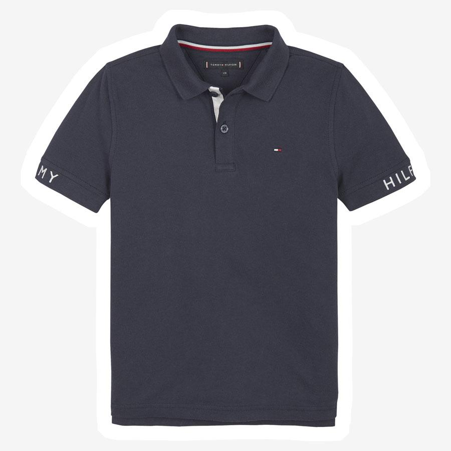 Tommy Hilfiger Sleeve text polo